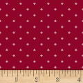 Clothworks Wintertide Geo Dots Red