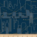 Stof Fabrics Denmark Live City By Hoodie City Scape Blue