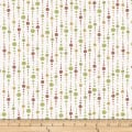 Stof Fabrics Denmark Murano Dot Stripes Dusty