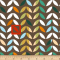 Stof Fabrics Denmark Urban Nature Leaves Brown