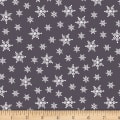 Stof Fabrics Denmark Winter Is Coming Snow Flakes Grey