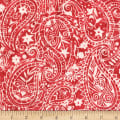 Anthology Batiks Art Inspired Campbell's Soup Paisley Red