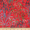 Anthology Batiks Art Inspired Campbell's Soup Bamboo Red