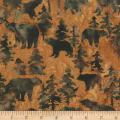 Anthology Batiks Novelty Northwoods Bears Brown