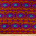 Supreme Basin African Print Broadcloth 6 Yards Purple/Red/Brown