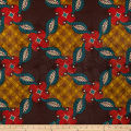 Supreme Basin African Print Broadcloth 6 Yards Brown/Red