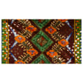 Supreme Osikani African Print Broadcloth 6 Yards Metallic Brown/Orange/Green