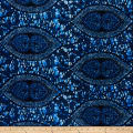Supreme African Wax Print Broadcloth 6 Yards Blue Indigo