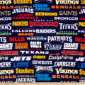 NFL Fleece Allover Teams Multi