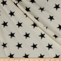 California Stretch French Terry Stars White