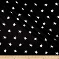 California Stretch French Terry Stars Black