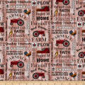 Farmall Hometown Life Tractor Words Red