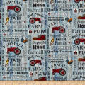 Farmall Hometown Life Tractor Words Blue