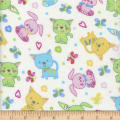 Flannel Snuggy Bunny Cat White Multi