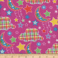 Flannel Snuggy Dotted Moon Fuschia