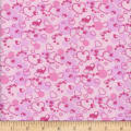 Flannel Snuggy Heart Bubble Pink