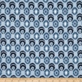 Stof Fabrics Denmark Cosy Minds Circle Graphics Dots Blue