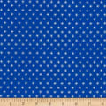 Stof Fabrics Denmark Colour Fun Dots Sunbursts Blue