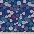 Stoffabric Denmark  Roadside Flowers Circle, Graphics, Dots  Blue