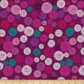 Stoffabric Denmark  Roadside Flowers Circle, Graphics, Dots Pink