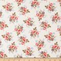 Windham Colonial Williamsburg Floral Clusters Linen White