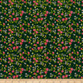 Heather Ross Mousies Floral Dark Green