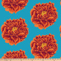 "Kaffe Fassett 108"" Quilt Backs Full Bloom Red"