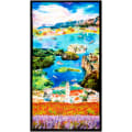 Paintbrush Studio Fabrics Croatia Scenic Panel Multicolored
