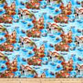 Paintbrush Studio Fabrics Croatia Coastal Collage Turquoise