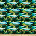 Paintbrush Studio Fabrics Croatia Mountainscape Aqua/Green