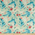 Paintbrush Studio Fabrics Gulls Just Wanna Have Fun Mother Gull Mint/Coral