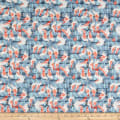 Paintbrush Studio Fabrics Gulls Just Wanna Have Fun Pier Posts Blue/Grey/Orange