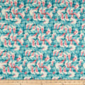 Paintbrush Studio Fabrics Gulls Just Wanna Have Fun Pier Posts Aqua/Pink