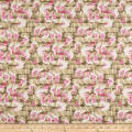 Paintbrush Studio Fabrics Gulls Just Wanna Have Fun Pier Posts Taupe/Hot Pink