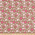 Paintbrush Studio Fabrics Gulls Just Wanna Have Fun Seashells Taupe/Fuschia