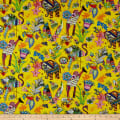 Paintbrush Studio Fabrics Ubuntu Wild Encounter Bright Yellow/Purple