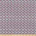 Paintbrush Studio Fabrics Ubuntu Diamond Weave Grey/Burgundy/Orange