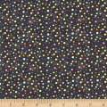 Paintbrush Studio Fabrics Ubuntu Multi Sized Multicolored Dots Charcoal