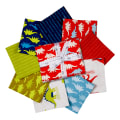 Kaufman Prehistoric Pals Fat Quarter Bundles 9 Pcs Multi