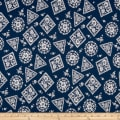 Penny Rose Majestic Stamp Navy