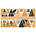 "Riley Blake Costume Makers Ball Bunting Panel 24"" Orange"