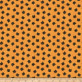 Riley Blake Costume Makers Ball Cat Buttons Orange