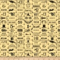 Riley Blake Costume Makers Ball Ticket Grid Yellow