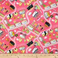 Trans-Pacific Textiles Oriental Sushi Train Ume-Pink