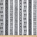 Shawn Pahwa African Print DTY Brushed Lungile Black/White