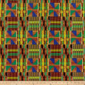 Shawn Pahwa African Print DTY Brushed Xolani Green/Yellow