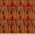 Shawn Pahwa African Print DTY Brushed Xolani Orange/Green