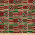 Shawn Pahwa Kente African Print ITY Dabulamanzi Red/Green