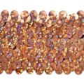 "5 Row 1 3/4"" Starlight Hologram Stretch Sequin Trim Orange"