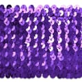 8 Row Sequin Stretch Purple